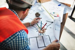 building and construction job sites planning blueprints