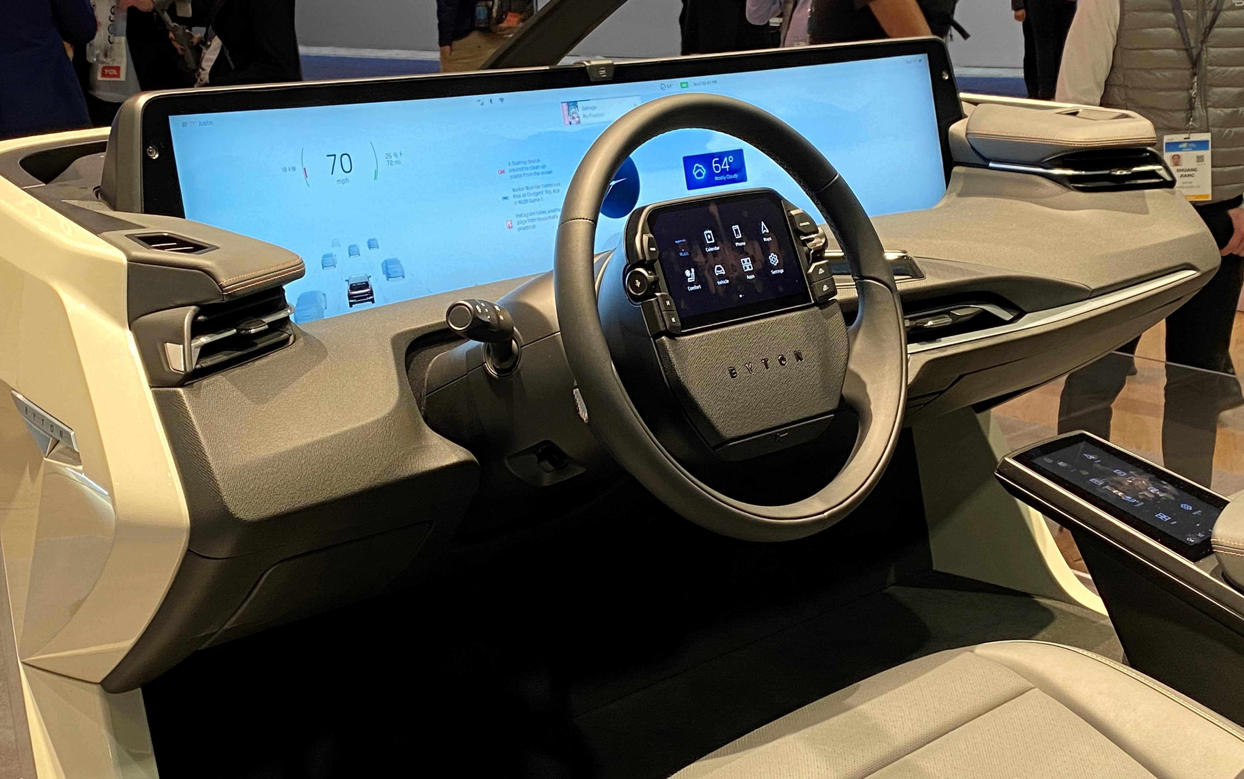 Automotive - CES2020 - Instrument display panl on M-Byte vehicle from Chinese EV producer Byton coming 2021