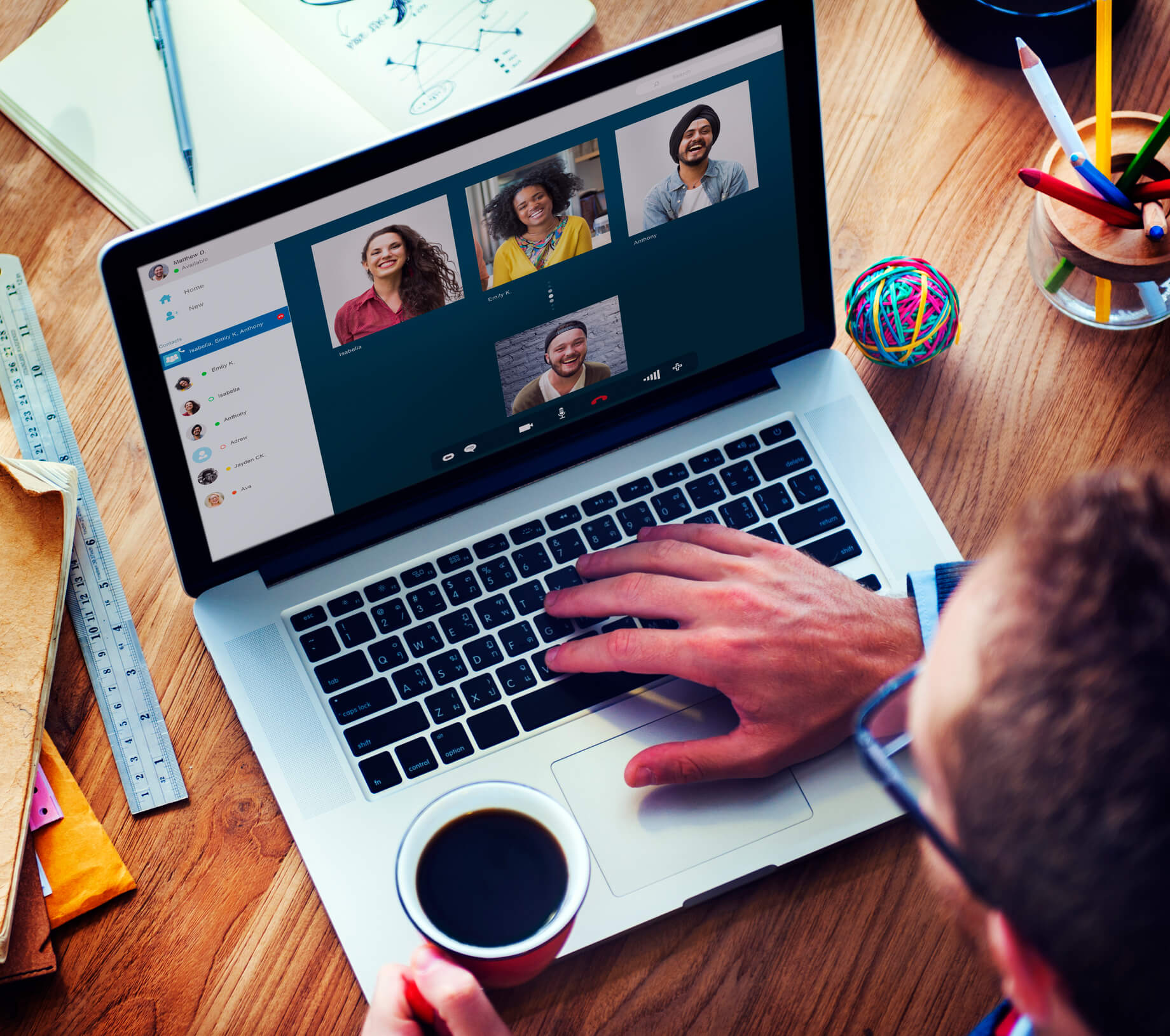 online qual - online focus group video chat conference call